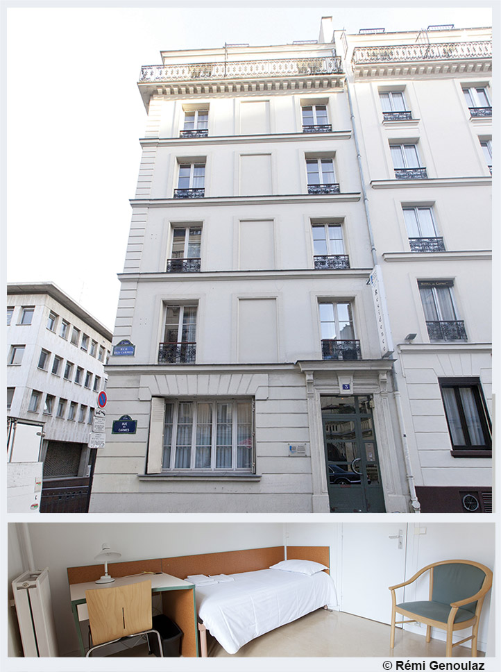 R sidence les carmes crous de paris for Chambre crous paris